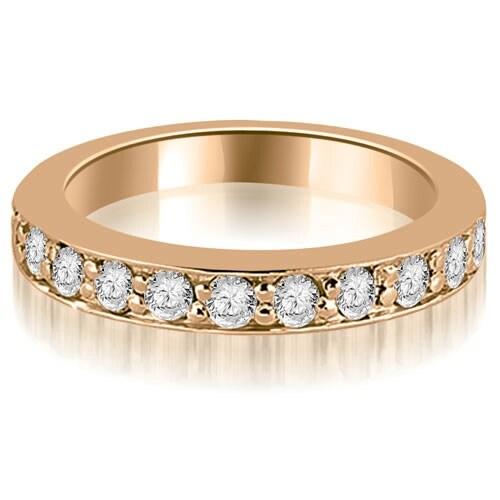 0.55 cttw. 14K Rose Gold Round Cut Diamond Wedding Band