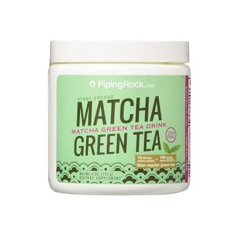 Piping Rock Matcha Green Tea Powder 4 oz (113 grams) Dietary Supplement - 4 Oz.