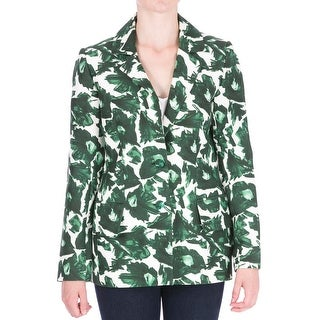 Mother of Pearl Womens B. Nadia Sateen Floral Print Two-Button Blazer