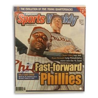 Autographed Ryan Howard Philadephia Phillies Sports Weekly 16x20 photo
