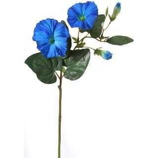"Morning Glory Spray 24""-Blue"