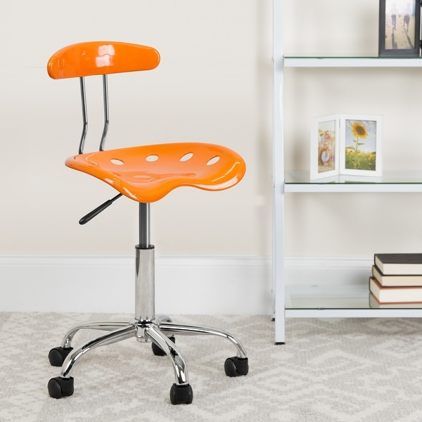 Adjustable Swivel Chair for Desk and Office with Tractor Seat. Opens flyout.