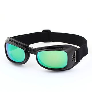 Green Lens Full Frame Motorcycle Protective Goggles Glasses Eyewear Black