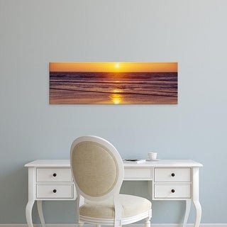 Easy Art Prints Panoramic Images's 'Sunset over an ocean, San Francisco, California, USA' Premium Canvas Art