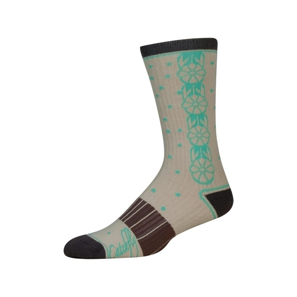 Catchfly Western Socks Womens Performance Logo 6-10 Tan Mint