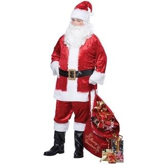 California Costumes Classic Santa Suit Adult Costume - Red