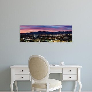 Easy Art Prints Panoramic Image 'Culver City, Santa Monica Mountains, Los Angeles, Westwood, California' Canvas Art