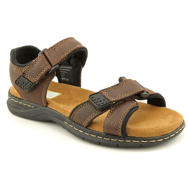 Dr. Scholl's Gus Men Open-Toe Leather Brown Sport Sandal