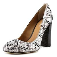 Calvin Klein Page Women  Pointed Toe Leather Silver Heels