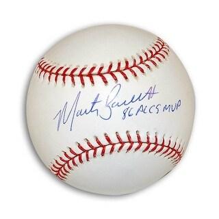 "Autographed Marty Barrett MLB Baseball Inscribed ""86 ALCS MVP"""