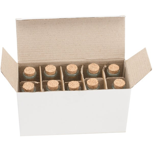 Mini Glass Bottles W/Cork 40ml 10/Pkg-4""