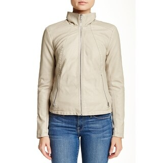 Kenneth Cole Reaction Faux-Leather Moto Jacket Warm Combo Large
