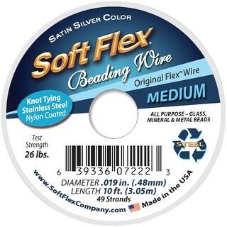 "Soft Flex Wire 49-Strand .019""X10'-Silver"