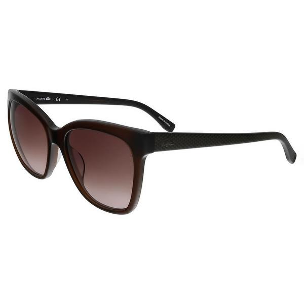 89ba7efeb1b9 Shop Lacoste L792 S 210 Brown Square Sunglasses - 56-18-140 - Free ...