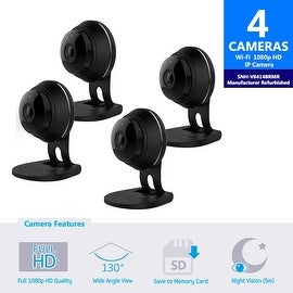 4 pack of SNH-V6414BMR - Samsung HD Plus WiFi IP Camera with 16GB microSD Card (Refurbished)