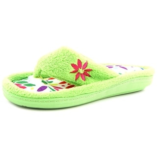 Tender Tootsies L16006 Women N/S Open-Toe Canvas Green Slipper