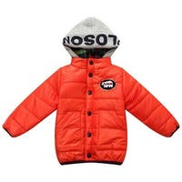 Richie House Little Boys Orange Felt Embroidery Patch Padding Jacket 1-5