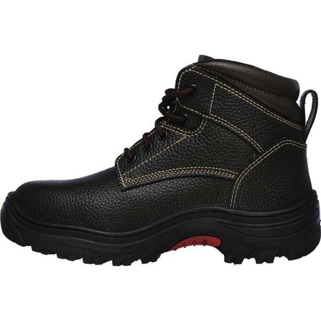 Skechers Men\u0027s Work Burgin Tarlac Steel Toe Boot Brown