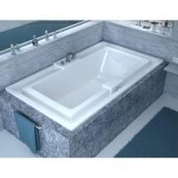 """Avano AV4678IS Tahiti 78"""" Acrylic Soaking Bathtub for Drop-In Installations with Center Drain - White"""