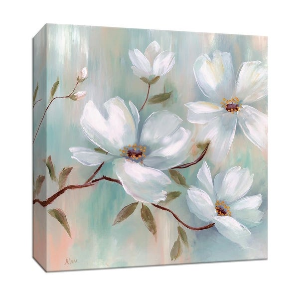 """PTM Images 9-147081 PTM Canvas Collection 12"""" x 12"""" - """"Spring Blush I"""" Giclee Flowers Art Print on Canvas"""