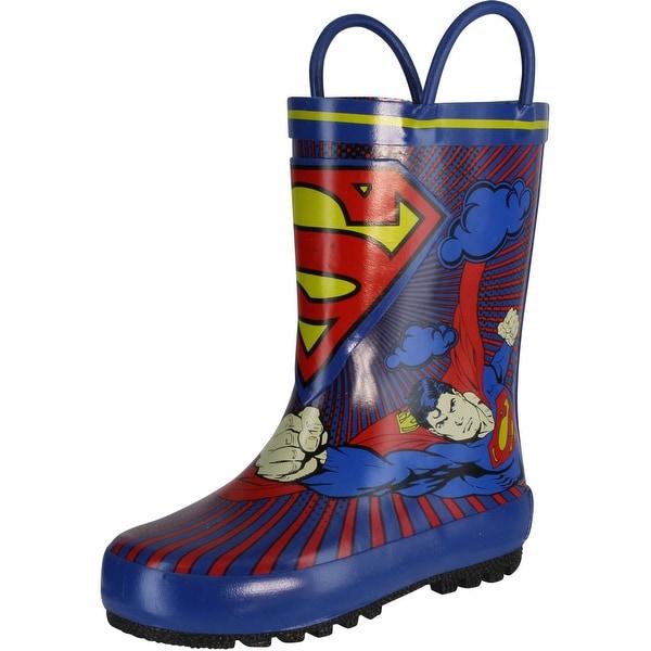 Dc Comics 1Sus500 Rain Boot - Blue - 7 m us toddler