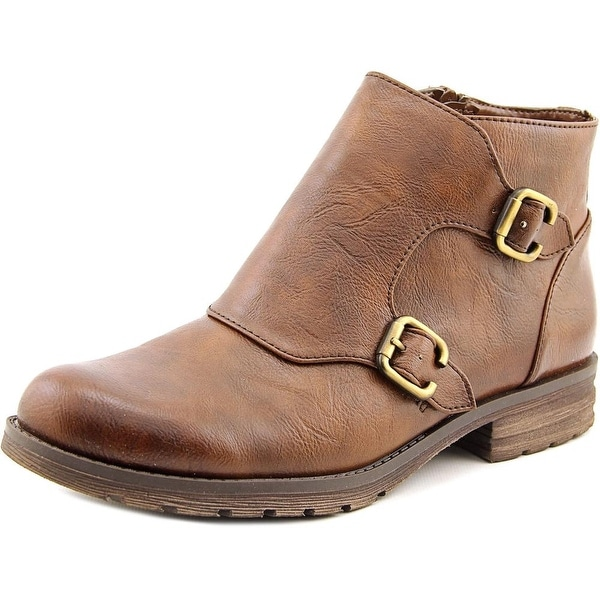 Naturalizer Breena Women Round Toe Synthetic Brown Bootie