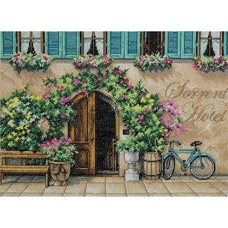 "Sorrento Hotel Counted Cross Stitch Kit-14""X10"" 14 Count"