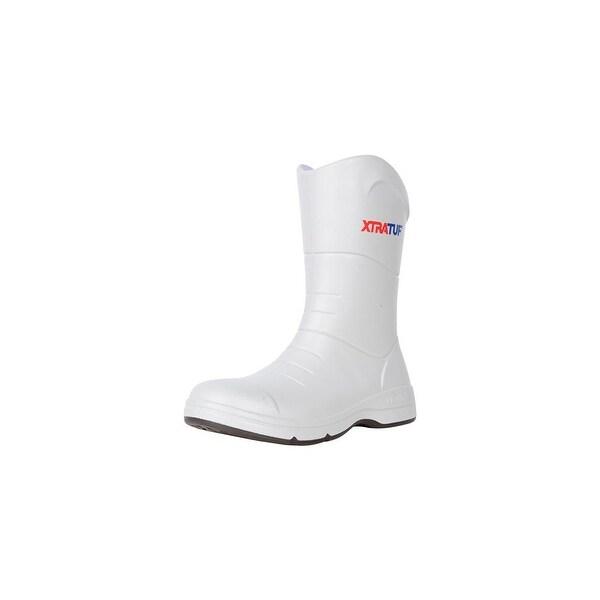 Xtratuf Men's Commander Fishing White Boots w/ Non-Marking Chevron Outsole - Size 10