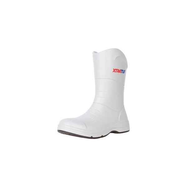Xtratuf Men's Commander Fishing White Boots w/ Non-Marking Chevron Outsole - Size 13