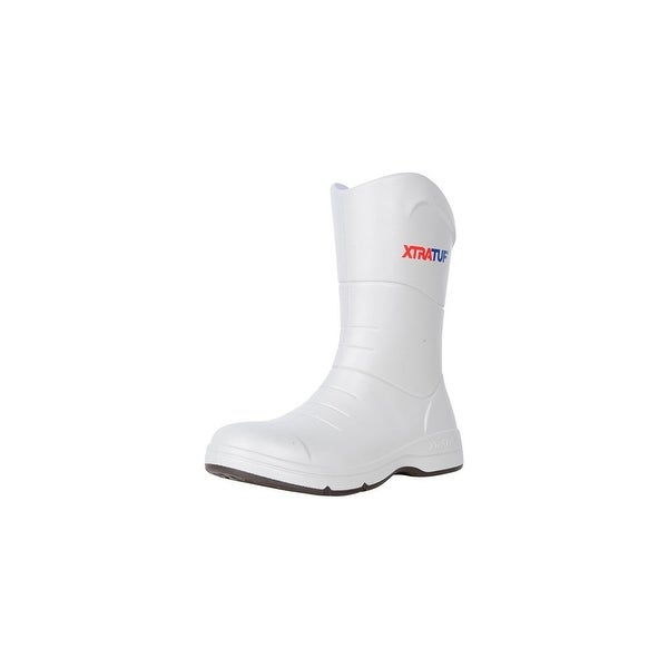 Xtratuf Men's Commander Fishing White Boots w/ Non-Marking Chevron Outsole - Size 9