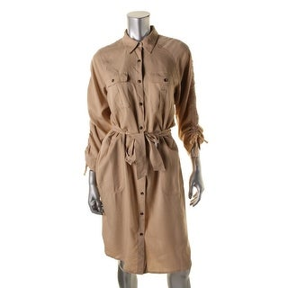 Lauren Ralph Lauren Womens Twill Button-Down Shirtdress