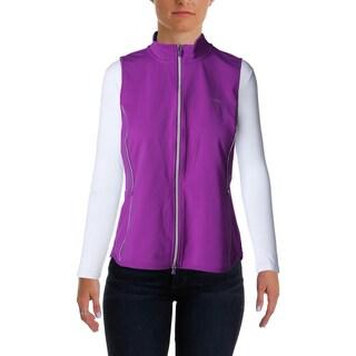 L-RL Lauren Active Womens Casual Vest Active Contrast Trim - l