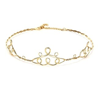 Gold Peak Circlet Adjustable Costume Crown