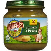 Earth's Best - Organic Spinach & Potato ( 12 - 4 OZ)