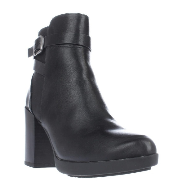 White Mountain Cayden Platform Ankle Boots, Black