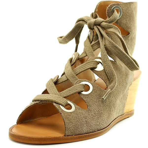 Dolce Vita Lei Women Open Toe Suede Wedge Sandal