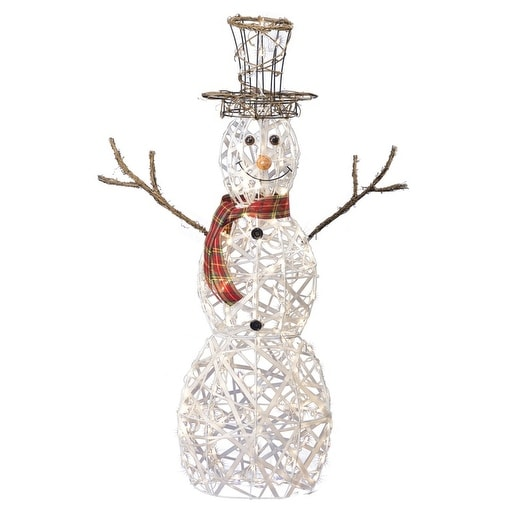 sienna r840411t 3d wire snowman christmas decoration white metal 48