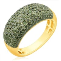 Prism Jewel 1.02 Carat Green Color Diamond Wedding Band, 3.60mm Wide