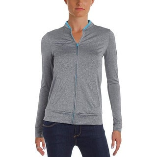 Energie Womens Juniors Track Jacket Heathered Contrast Trim - S