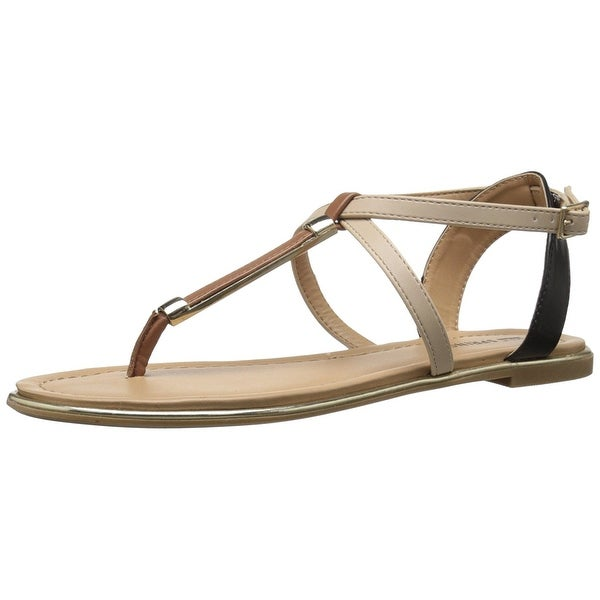 Call It Spring Womens MIRENALLA Split Toe Casual T-Strap Sandals