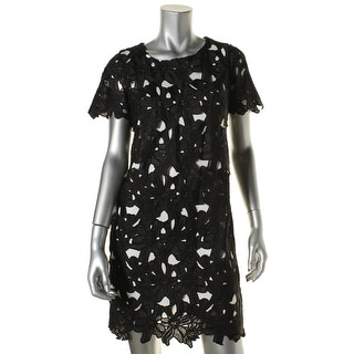 Calvin Klein Womens Petites Casual Dress Lace Lined - 8P