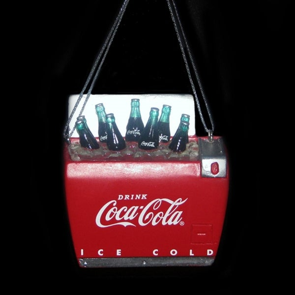 "2.75"" Classic Coca-Cola® Bottles in Red and White Cooler Christmas Ornament"