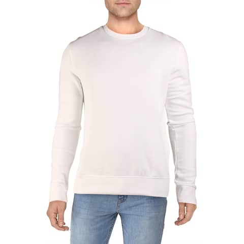 French Connection Mens USA Sweatshirt Logo Comfy - White