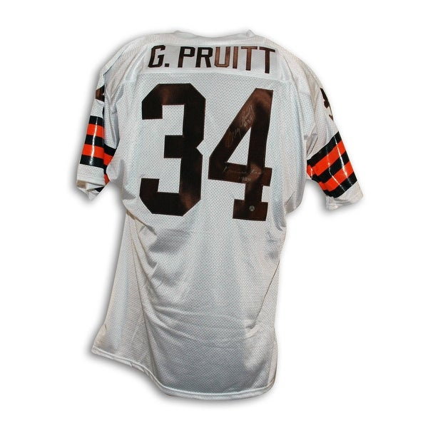 quality design a9676 f356e Greg Pruitt Cleveland Browns Autographed Throwback Jersey Inscribed Kardiac  Kids 1980