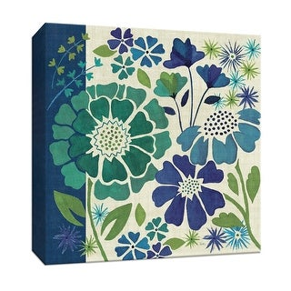 "PTM Images 9-152468  PTM Canvas Collection 12"" x 12"" - ""Blue Garden I"" Giclee Flowers Art Print on Canvas"
