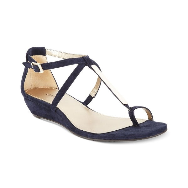 Alfani Womens niko Leather Split Toe Casual T-Strap Sandals - 5.5