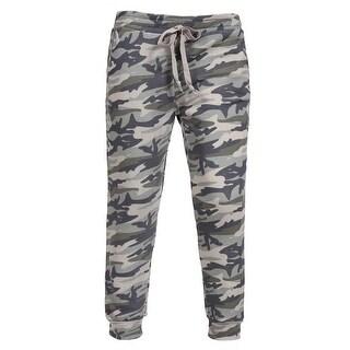 NE PEOPLE Womens Casual Waist Drawstring Camo Jogger Pants [NEWP55]