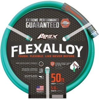 """Apex 8550-50 Flexalloy Garden Hose, 5/8"""" X 50'"""