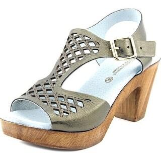 Eric Michael Tyra   Open Toe Leather  Platform Sandal
