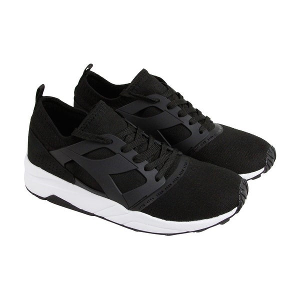 Diadora Evo Aeon Mens Black Mesh Athletic Lace Up Running Shoes